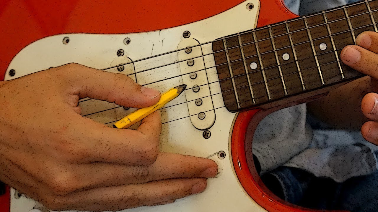 Sharpen a pencil by playing the GUITAR