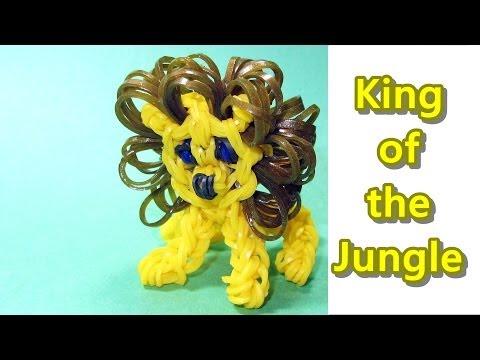 Rainbow Loom: LION Charm: How to Design / Tutorial (DIY Mommy)