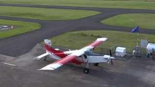 Landung der Pilatus Porter auf der RWY 10 in EDLT