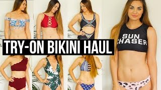 Hey Blushers! Hope you guys enjoyed this Cheap Bikini Suit Try-On Haul! Who else loves fining awesome cheap swimsuits!? I know I do! Have any of you ordered from Zaful before? This was my first time and overall my experience was great! Which bathing suit was your favorite? Love you so much!xoxo LeahWebsite: http://www.zaful.com/?lkid=53007Plunging Neck Leaf Print Swimsuit: http://www.zaful.com/leaf-print-plunging-neck-one-piece-swimwear-p_84229.html?lkid=53007Spaghetti Strap Rainbow Print Bikini Set: http://www.zaful.com/rainbow-print-spaghetti-strap-bikini-set-p_184889.html?lkid=53007Lace-Up High Neck Bikini Set: http://www.zaful.com/lace-up-wine-red-bikini-p_190165.html?lkid=53007Crisscross High Neck Halter Bikini: http://www.zaful.com/crisscross-high-neck-bikini-p_252101.html?lkid=53007Printed Off The Shoulder Bikini Set: http://www.zaful.com/printed-crossover-off-the-shoulder-bikini-set-p_259457.html?lkid=53007Striped Cutout Swimsuit: http://www.zaful.com/striped-cutout-plunge-swimsuit-p_258662.html?lkid=53007Letter Top with Printed Briefs Bikini: http://www.zaful.com/letter-top-with-printed-briefs-bikini-set-p_260338.html?lkid=53007Floral U Neck Bikini Set: http://www.zaful.com/u-neck-floral-bikini-set-p_266851.html?lkid=53007Geometric Print High Leg One-Piece Swimwear: http://www.zaful.com/geometric-thong-one-piece-swimwear-p_264602.html?lkid=53007Lace Up Color Block Halter Bikini Set: http://www.zaful.com/color-block-lace-up-bikini-set-p_269203.html?lkid=53007High Rise Scalloped One Shoulder Bikini: http://www.zaful.com/high-waisted-scalloped-one-shoulder-bikini-p_268688.html?lkid=53007Lace Up Bandeau Bikini: http://www.zaful.com/lace-up-bandeau-bikini-set-p_269785.html?lkid=53007I N S T A G R A Mhttp://instagram.com/keepcalmandblushonS N A P C H A Thttps://www.snapchat.com/add/blushonandonT W I T T E Rhttps://twitter.com/BlushOnAndOnF A C E B O O Khttps://www.facebook.com/keepcalmandblushonP I N T E R E S Thttp://pinterest.com/leah_pripps/♡Lens I use: http:/