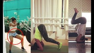 Sonakshi Sinha Handstand Workout Video At Home