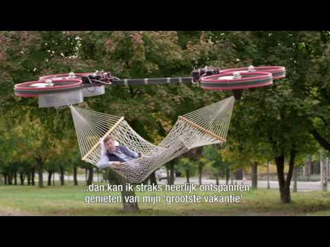Man Invents Flying Hammock Funny Dutch