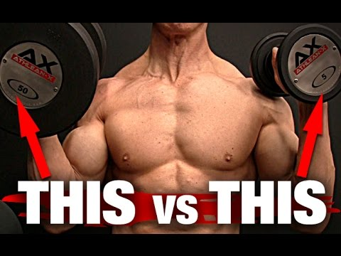 Heavy Weights vs Light Weights   Build Muscle (THE WINNER IS...)