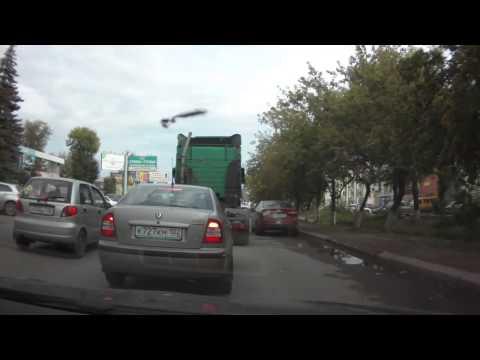 Авария с грузовиком в Уфе