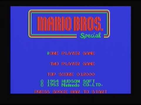 PC-6001mk2/6601 マリオブラザーズスペシャル 電源投入~プログラムロード~プレイ