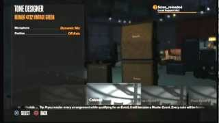 In this video you see the options you have to costumize your settings of your amp and guitar. More gaming News at: http://cerealkillerz.org/ Gaming Funstuff at: ...