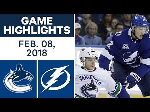 Video: NHL Game Highlights | Canucks vs. Lightning - Feb. 8, 2018