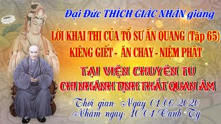Kiêng Giết - Ăn Chay - Niệm Phật - ngày 01/06/2020