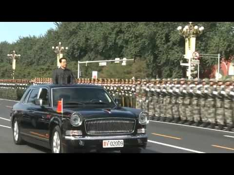 01 President HU Jintao Reviews Chinese Troops [China's National Day, Chinese Military Parade 2009]