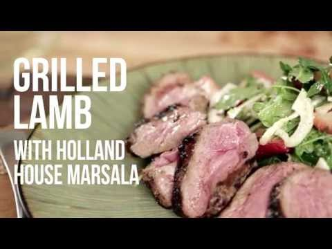 Grilled Lamb With Holland House Marsala