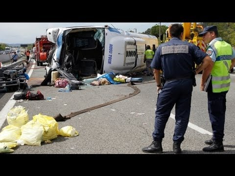 قتيل وأربعين جريحا بحادث سير في جنوب فرنسا - فيديو