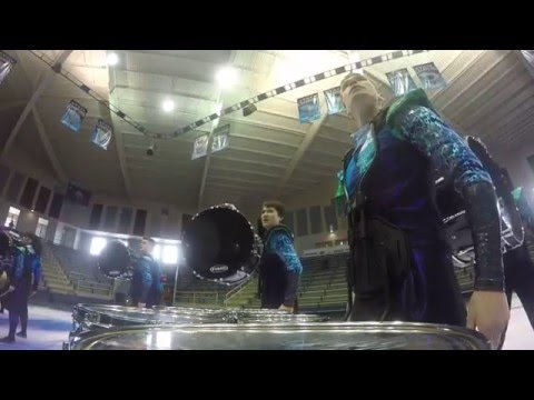 George Mason University Indoor Drumline - Spartanburg, SC WGI Regional (Daniel Hardy's Prelims Run)