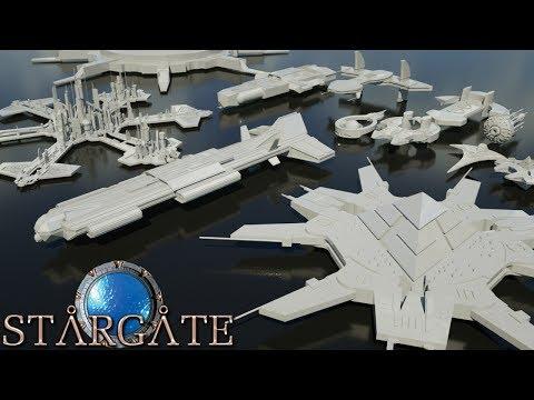 Starships size comparison (StarGate)
