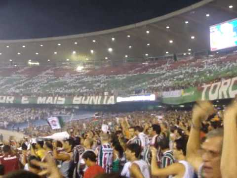 Fluminense 3 X 0 LDU  Sulamericana 2009 - Torcida Show !!! - Movimento Popular Legião Tricolor - Fluminense