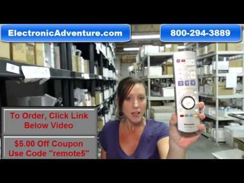 Original Panasonic EUR7658Y80 DVD Blu Ray Remote Control $5 Off -- ElectronicAdventure.com