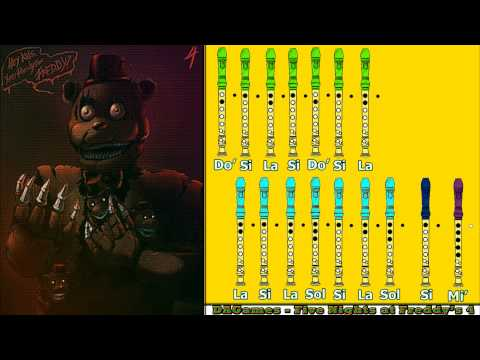 Break My Mind (DAGames) - Five Nights At Freddy's 4 En Flauta Dulce Con Notas