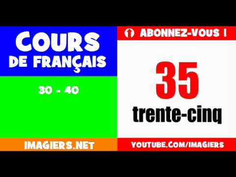 French for children = the numbers = from 30 to 40