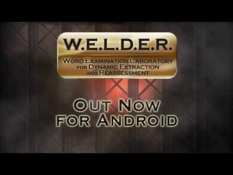 Video of W.E.L.D.E.R.