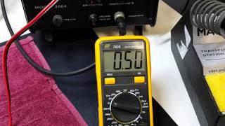 Quick load test of lm317 diy psu