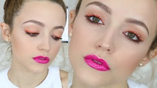 Hot pink & Orange | Affordable Makeup Tutorial - Talk Through by Kathleen Lights
