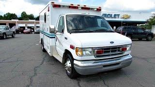 1999 Ford Econoline Cargo Van Ambulance