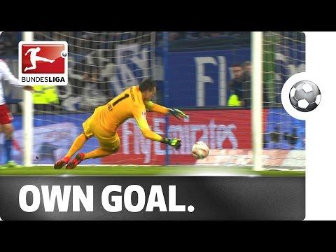 VIDEO: Bizar en klungelig eigen doelpunt in Bundesliga