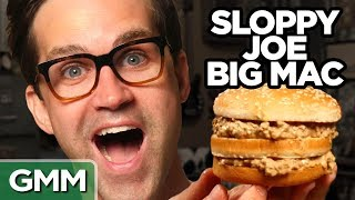 """Today we're showing you how to make some new McDonald's menu hacks we created. GMM #1153!Don't miss This is Mythical:  http://bit.ly/ShovelCakesSUBSCRIBE to GMM: http://bit.ly/subrl2  Watch today's GMMore episode: http://bit.ly/NuggetMcFlurryJoin us in donating to The Trevor Project at http://www.thetrevorproject.org to help them provide crisis intervention and suicide prevention services to lesbian, gay, bisexual, transgender and questioning (LGBTQ) young people ages 13-24.For rules and more info on how to submit a #10SecondTour go to http://www.rhettandlink.com/10secondtourFollow Rhett & Link:Facebook: http://facebook.com/rhettandlinkTwitter: http://twitter.com/rhettandlinkTumblr: http://rhettandlink.tumblr.comInstagram: http://instagram.com/rhettandlinkOther Rhett & Link Channels:Main Channel: https://youtube.com/rhettandlinkGood Mythical MORE: https://youtube.com/user/rhettandlink3Rhett & Link EXTRAS: https://youtube.com/user/rhettandlink4GMM Merch: http://bit.ly/RhettLinkStoreWatch More GMM:Choose a Season:  http://bit.ly/2axhxZNPopular Videos: http://bit.ly/2afIJ12Latest Uploads: http://bit.ly/2aZMw3KWill It?: http://bit.ly/2a64BiVTaste Tests: http://bit.ly/2a4v5hZListen to our FREE podcast, Ear Biscuits:Apply Podcasts: http://apple.co/29PTWTMSpotify: http://spoti.fi/2oIaAwpArt19: https://art19.com/shows/ear-biscuitsJOIN the RhettandLinKommunity: http://bit.ly/rlkommunityMail us stuff to our P.O. Box: http://rhettandlink.com/contactSubmit a Wheel of Mythicality intro video: http://bit.ly/GMMWheelIntroWe are two Internetainers dedicated to giving you a daily dose of casual comedy every Monday-Friday on our show """"Good Mythical Morning."""" Thanks for making us a part of your daily routine. Be your mythical best! - Rhett & LinkCredits:Executive Producer: Stevie Wynne LevineWriter/Producer: Edward Coleman Writer/Producer: Lizzie BassettWriter/Producer: Kevin KostelnikWriter/Producer: Micah GordonWriter/Producer: Ellie McElvainAssociate Producer: Chase HiltTechnical D"""