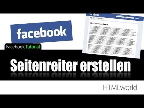 Facebook Tutorial: Seitenreiter erstellen // deutsch