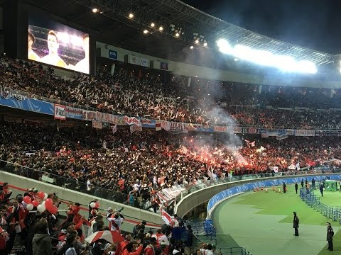 Hinchas de River Plate en Yokohama(Japón) リーベルサポーターによる発煙筒とロケ� - Los Borrachos del Tablón - River Plate - Argentina - América del Sur