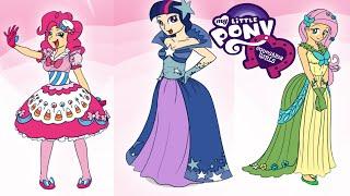 Equestria Girls Twilight Fluttershy & Pinkie Pie Fashion Games