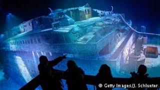 Os destroços do Titanic em tamanho real
