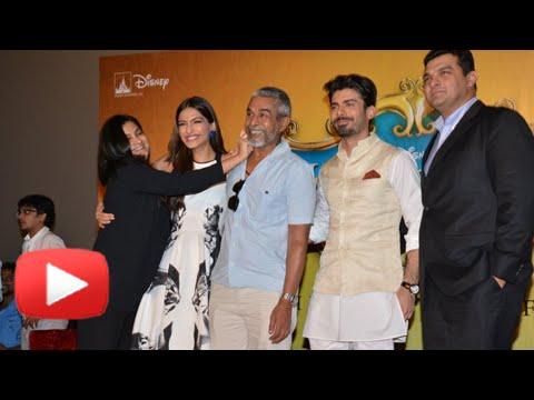 Launch - Share on Facebook : http://goo.gl/ABeu3g Tweet now : http://goo.gl/sqmt1z Bollywood actress Sonam Kapoor unveiled the trailer of her new film 'Khoobsurat' in Mumbai. Present at the launch were...