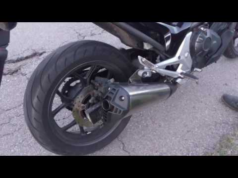 Honda NC700 with ZX10R exhaust