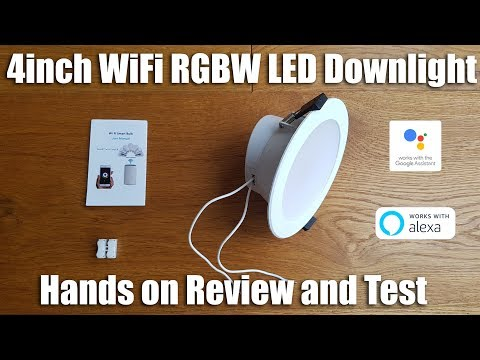 Zemismart LED Smart RGBW Downlight 10W works with Alexa & Google Home [Hands on Review and Test]
