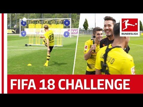العرب اليوم - شاهد: لاعبو بروسيا دورتموند يشاركون في تحدي التسديد