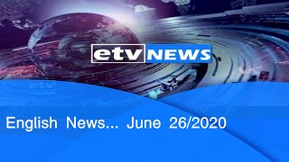 English News ....June 26/2020|etv