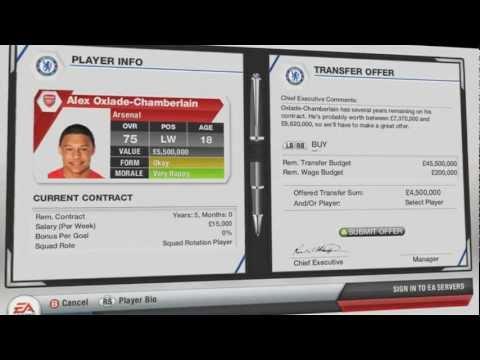 FIFA 13 — Трансферы. Режим карьеры