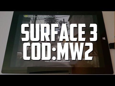 Surface 3 Atom Gaming: Call of Duty Modern Warfare 2