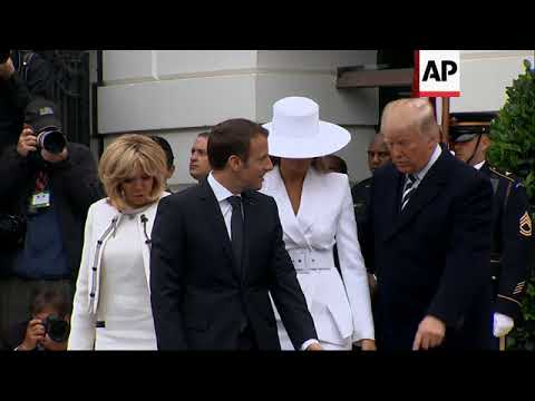 Trump welcomes French President Macron at White House