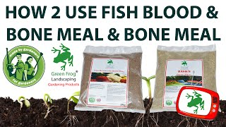 What is the difference between fish blood and bone meal and bone meal?