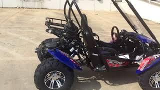 1. TrailMaster Blazer 150X GoKart Blue Walkaround