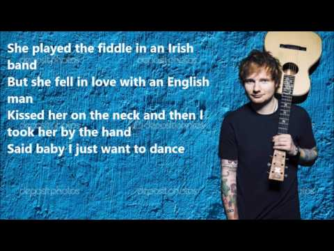 Ed Sheeran - Galway Girl LYRICS VIDEO (видео)