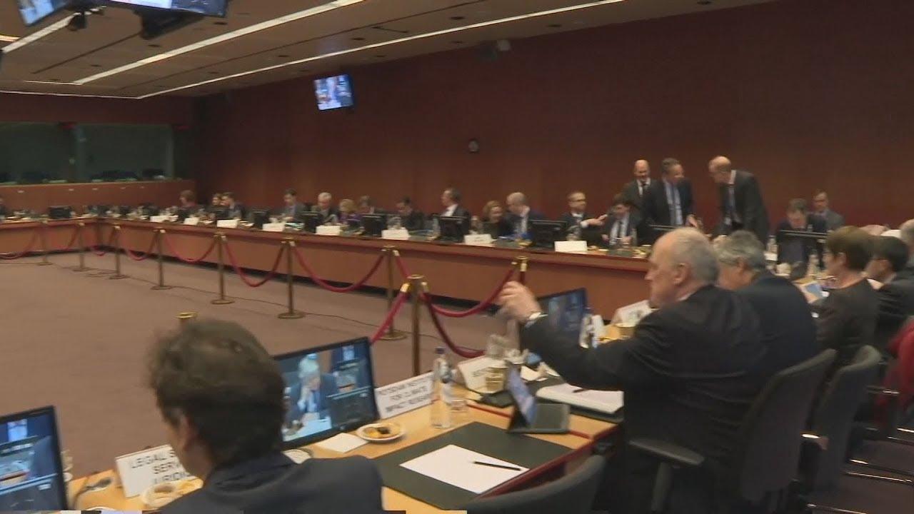 Πλάνα από τη συνεδρίαση του Εurogroup 20-2-2020