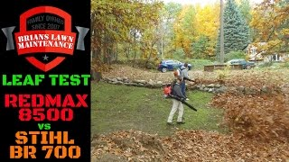 8. Leaf Test - Redmax 8500 vs Stihl BR-700 Backpack Blower | The Winner May Surprise You