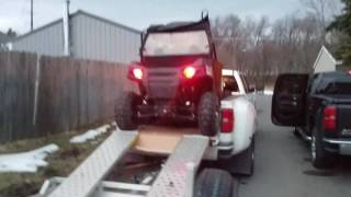 11. Loading Rzr 570 with S-kit in GMC dually
