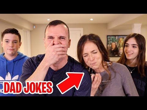 TRY NOT TO LAUGH CHALLENGE!! - VALENTINES DAD JOKES