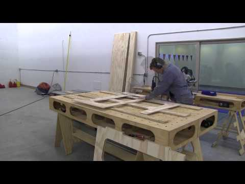 Building the Paulk Workbench: PART 3 USING PATTERN TO ROUT SAW HORSES
