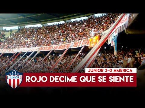 Te fuistes a la B - Frente Rojiblanco sur, Junior 3-0 America 2017 - Frente Rojiblanco Sur - Junior de Barranquilla - Colombia - América del Sur