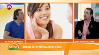 Op. Dr. Mustafa Ali Yanık Dr. Aytuğ Beyin programında burun estetiği ile ilgili bilgi veriyor
