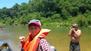 Having fun on the river with my sister